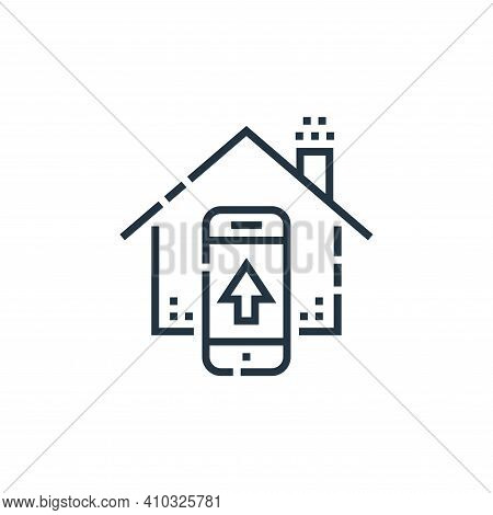 control icon isolated on white background from smarthome collection. control icon thin line outline