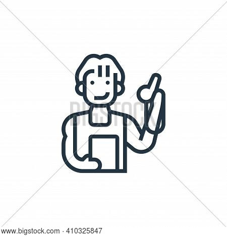 coach icon isolated on white background from fitness collection. coach icon thin line outline linear