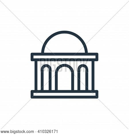 bank icon isolated on white background from banking and finance flat icons collection. bank icon thi