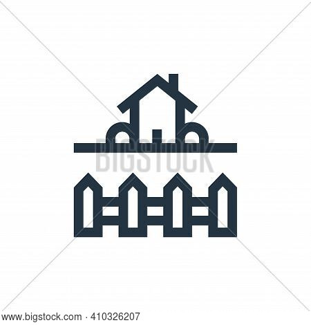 backyard icon isolated on white background from real estate collection. backyard icon thin line outl