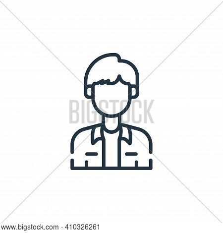 actor icon isolated on white background from fame collection. actor icon thin line outline linear ac