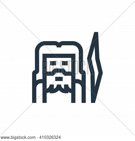 zeus icon isolated on white background from fantastic characters collection. zeus icon thin line out