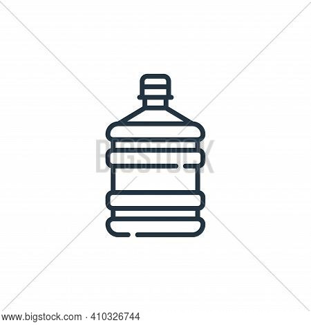water dispenser icon isolated on white background from plastic products collection. water dispenser