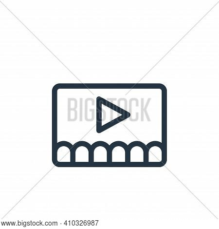 video icon isolated on white background from online learning collection. video icon thin line outlin