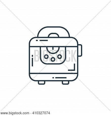 toaster icon isolated on white background from technology devices collection. toaster icon thin line