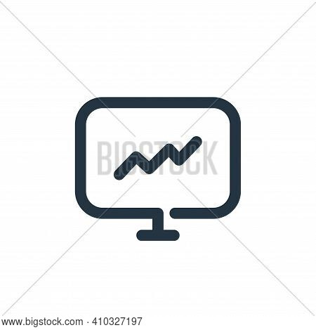 statistics icon isolated on white background from seo collection. statistics icon thin line outline