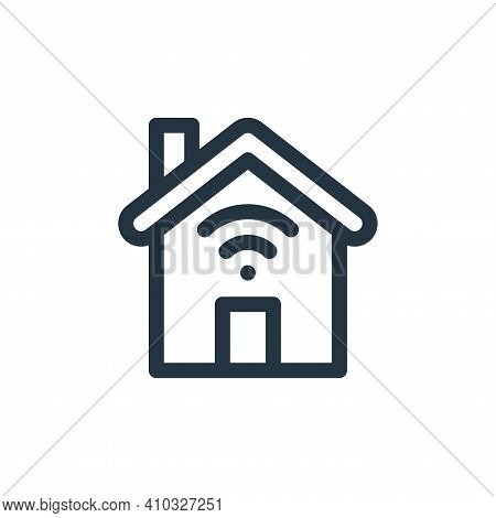 smart home icon isolated on white background from internet of things collection. smart home icon thi