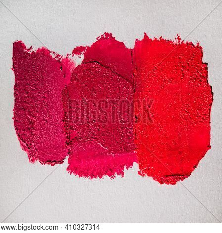 Colorful Shades Lipstick Swatch Sample Smear Close Up