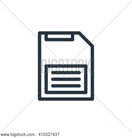 save icon isolated on white background from technology collection. save icon thin line outline linea