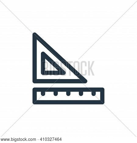rulers icon isolated on white background from labour day collection. rulers icon thin line outline l