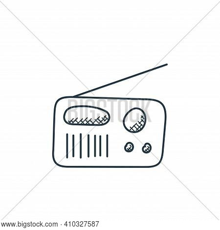 radio icon isolated on white background from technology collection. radio icon thin line outline lin