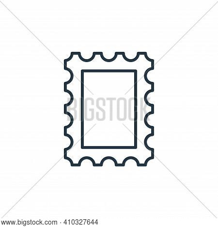 postage stamp icon isolated on white background from stationery collection. postage stamp icon thin