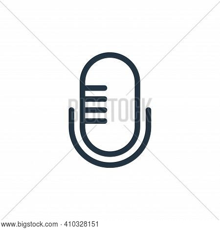 microphone icon isolated on white background from technology collection. microphone icon thin line o