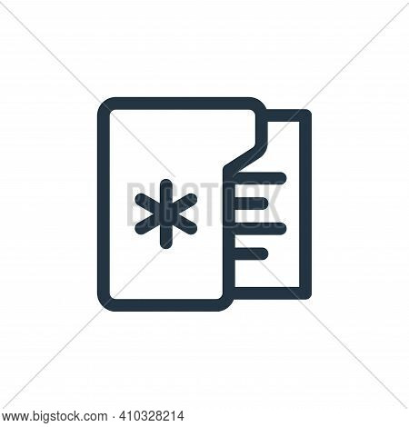medical records icon isolated on white background from health collection. medical records icon thin