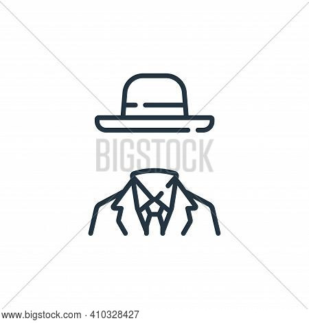 invisible man icon isolated on white background from fantastic characters collection. invisible man