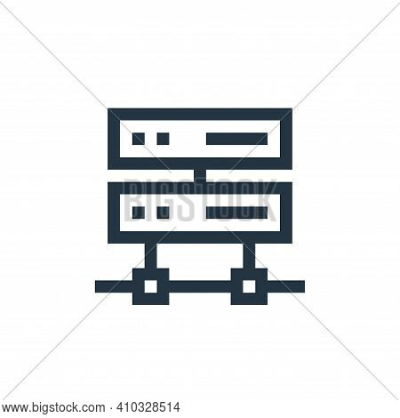 hosting icon isolated on white background from management collection. hosting icon thin line outline