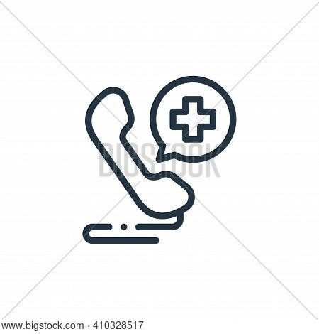 hospital icon isolated on white background from medicine collection. hospital icon thin line outline