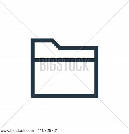 file icon isolated on white background from web essentials collection. file icon thin line outline l