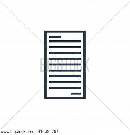 file icon isolated on white background from school collection. file icon thin line outline linear fi