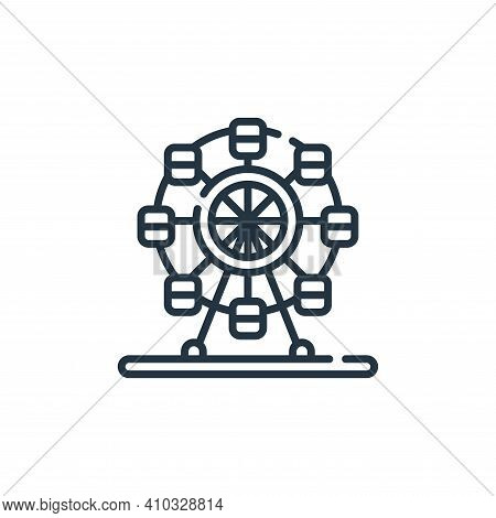 ferris wheel icon isolated on white background from circus collection. ferris wheel icon thin line o