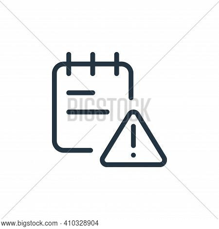 error icon isolated on white background from work office supply collection. error icon thin line out