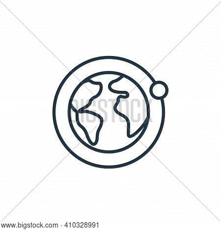 earth icon isolated on white background from space collection. earth icon thin line outline linear e