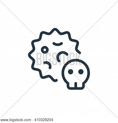 death icon isolated on white background from coronavirus collection. death icon thin line outline li
