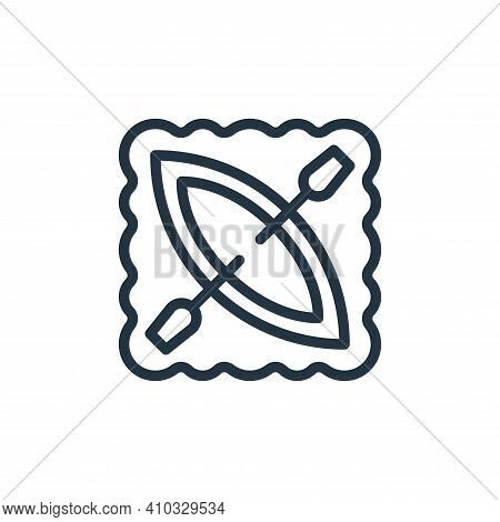 canoeing icon isolated on white background from hobbies collection. canoeing icon thin line outline