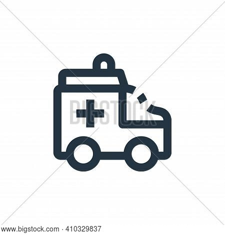 ambulance icon isolated on white background from medical kit collection. ambulance icon thin line ou