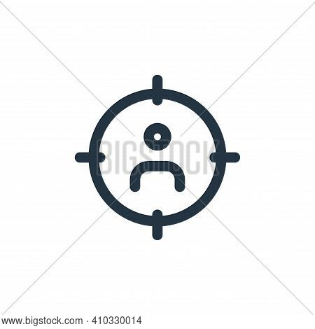 user icon isolated on white background from web apps seo collection. user icon thin line outline lin