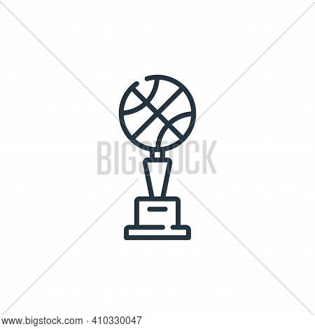 trophy icon isolated on white background from fame collection. trophy icon thin line outline linear