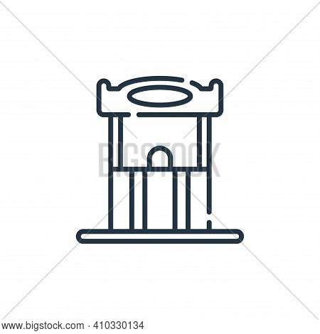 ticket icon isolated on white background from circus collection. ticket icon thin line outline linea