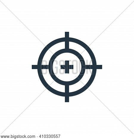 target icon isolated on white background from video game elements collection. target icon thin line