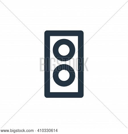 speaker icon isolated on white background from electronics collection. speaker icon thin line outlin