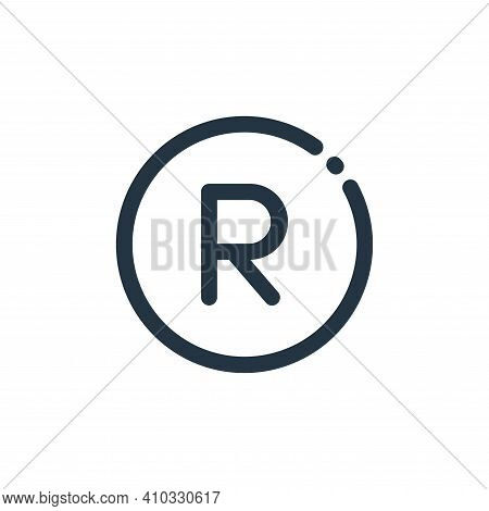 south african rand icon isolated on white background from currency collection. south african rand ic
