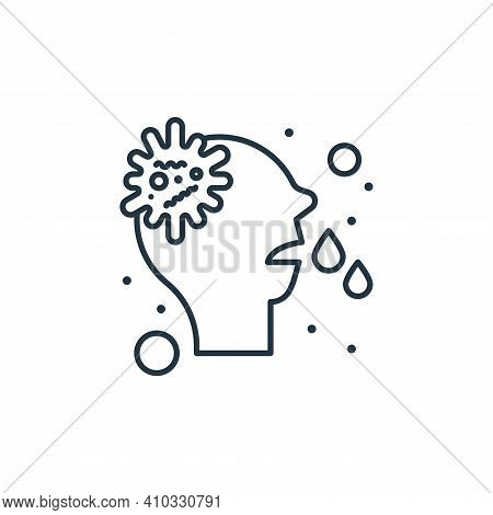 runny nose icon isolated on white background from coronavirus collection. runny nose icon thin line