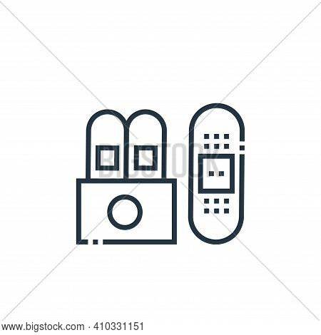 plaster icon isolated on white background from medical services collection. plaster icon thin line o