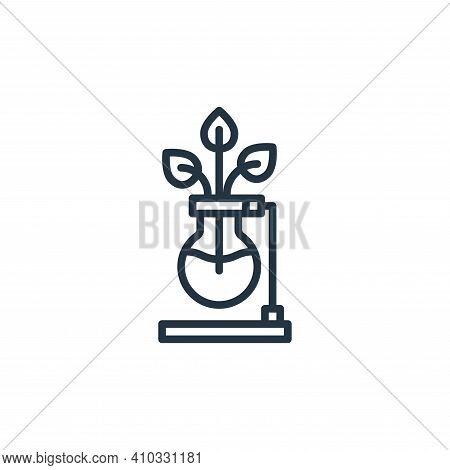 plant icon isolated on white background from stay at home collection. plant icon thin line outline l