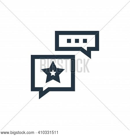 opinion icon isolated on white background from feedback and testimonials collection. opinion icon th