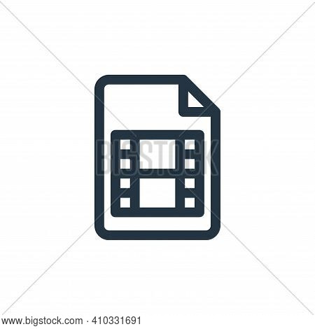 movie icon isolated on white background from document and files collection. movie icon thin line out