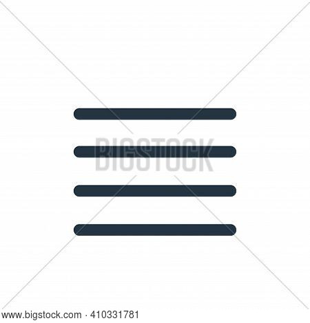menu icon isolated on white background from interface collection. menu icon thin line outline linear