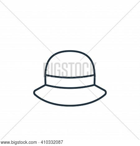 hat icon isolated on white background from clothes and outfit collection. hat icon thin line outline