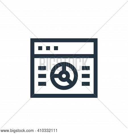graphic icon isolated on white background from insurance collection. graphic icon thin line outline