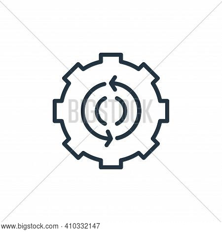 gear icon isolated on white background from engineering collection. gear icon thin line outline line