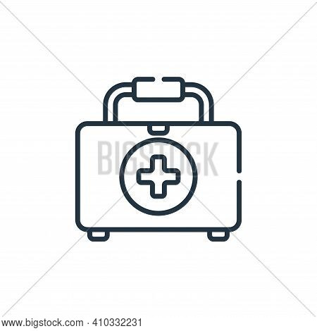 first aid kit icon isolated on white background from bathroom collection. first aid kit icon thin li