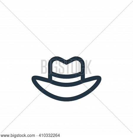 fedora hat icon isolated on white background from news collection. fedora hat icon thin line outline
