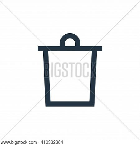 delete icon isolated on white background from email collection. delete icon thin line outline linear