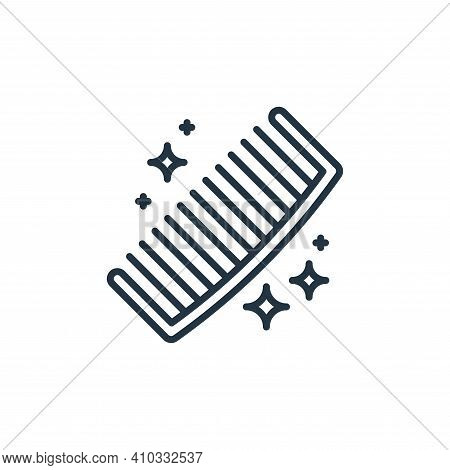 comb icon isolated on white background from hygiene routine collection. comb icon thin line outline