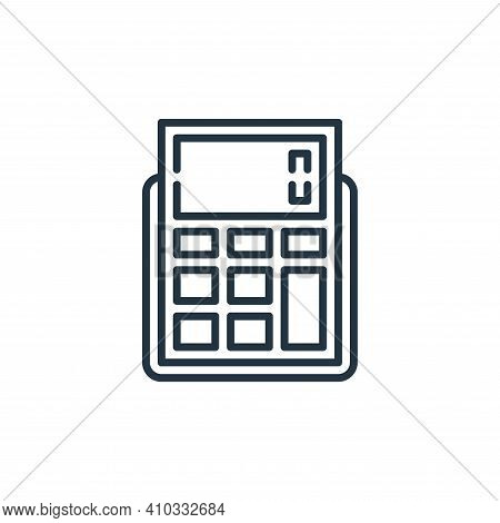 calculator icon isolated on white background from management collection. calculator icon thin line o