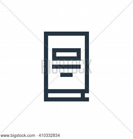 book icon isolated on white background from job resume collection. book icon thin line outline linea